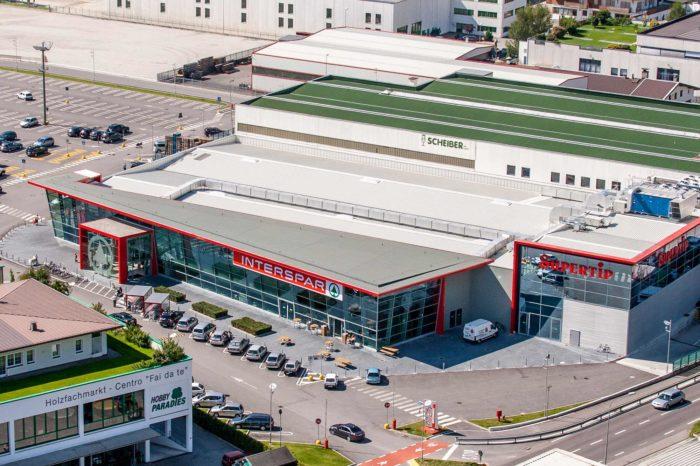 Supertip Aspiag Bruneck Despar Einkaufszentrum Pustertal Shopping Südtirol Luftaufnahme