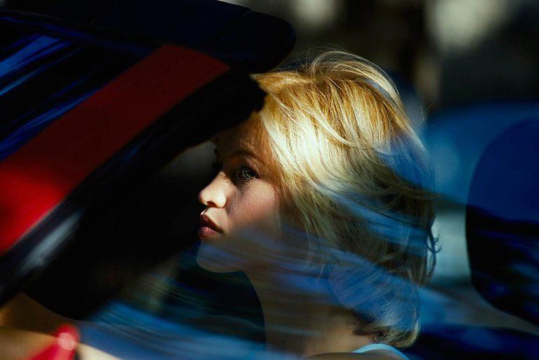 portrait people woman beauty outdoor car blond reflection
